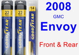 Front & Rear Wiper Blade Pack for 2008 GMC Envoy - Assurance