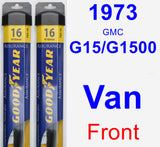 Front Wiper Blade Pack for 1973 GMC G15/G1500 Van - Assurance