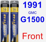 Front Wiper Blade Pack for 1991 GMC G1500 - Assurance
