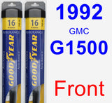 Front Wiper Blade Pack for 1992 GMC G1500 - Assurance