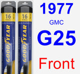 Front Wiper Blade Pack for 1977 GMC G25 - Assurance