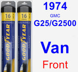 Front Wiper Blade Pack for 1974 GMC G25/G2500 Van - Assurance