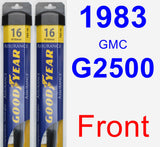 Front Wiper Blade Pack for 1983 GMC G2500 - Assurance