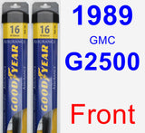 Front Wiper Blade Pack for 1989 GMC G2500 - Assurance