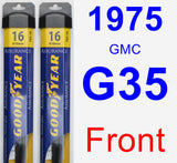 Front Wiper Blade Pack for 1975 GMC G35 - Assurance