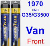 Front Wiper Blade Pack for 1970 GMC G35/G3500 Van - Assurance