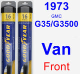 Front Wiper Blade Pack for 1973 GMC G35/G3500 Van - Assurance