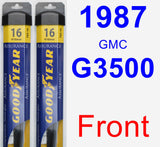 Front Wiper Blade Pack for 1987 GMC G3500 - Assurance
