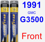 Front Wiper Blade Pack for 1991 GMC G3500 - Assurance