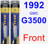 Front Wiper Blade Pack for 1992 GMC G3500 - Assurance