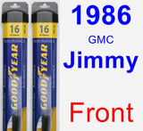 Front Wiper Blade Pack for 1986 GMC Jimmy - Assurance