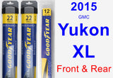 Front & Rear Wiper Blade Pack for 2015 GMC Yukon XL - Assurance