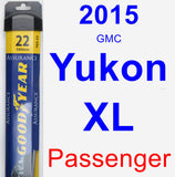 Passenger Wiper Blade for 2015 GMC Yukon XL - Assurance