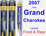 Front & Rear Wiper Blade Pack for 2007 Jeep Grand Cherokee - Assurance