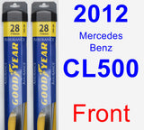 Front Wiper Blade Pack for 2012 Mercedes-Benz CL500 - Assurance