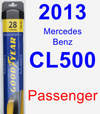Passenger Wiper Blade for 2013 Mercedes-Benz CL500 - Assurance