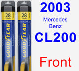 Front Wiper Blade Pack for 2003 Mercedes-Benz CL200 - Assurance