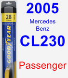 Passenger Wiper Blade for 2005 Mercedes-Benz CL230 - Assurance