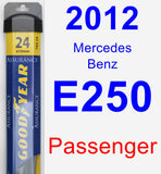 Passenger Wiper Blade for 2012 Mercedes-Benz E250 - Assurance