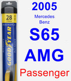 Passenger Wiper Blade for 2005 Mercedes-Benz S65 AMG - Assurance