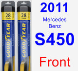 Front Wiper Blade Pack for 2011 Mercedes-Benz S450 - Assurance