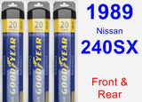 Front & Rear Wiper Blade Pack for 1989 Nissan 240SX - Assurance