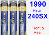 Front & Rear Wiper Blade Pack for 1990 Nissan 240SX - Assurance