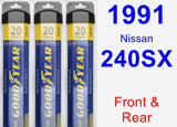 Front & Rear Wiper Blade Pack for 1991 Nissan 240SX - Assurance