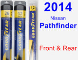 Front & Rear Wiper Blade Pack for 2014 Nissan Pathfinder - Assurance
