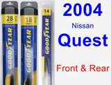 Front & Rear Wiper Blade Pack for 2004 Nissan Quest - Assurance