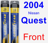 Front Wiper Blade Pack for 2004 Nissan Quest - Assurance