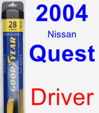 Driver Wiper Blade for 2004 Nissan Quest - Assurance