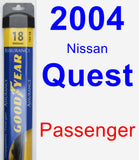 Passenger Wiper Blade for 2004 Nissan Quest - Assurance