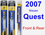Front & Rear Wiper Blade Pack for 2007 Nissan Quest - Assurance