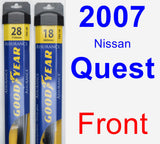 Front Wiper Blade Pack for 2007 Nissan Quest - Assurance