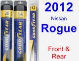 Front & Rear Wiper Blade Pack for 2012 Nissan Rogue - Assurance