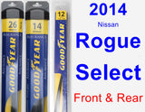 Front & Rear Wiper Blade Pack for 2014 Nissan Rogue Select - Assurance