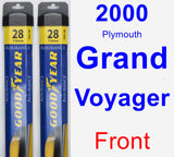 Front Wiper Blade Pack for 2000 Plymouth Grand Voyager - Assurance