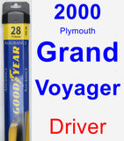Driver Wiper Blade for 2000 Plymouth Grand Voyager - Assurance