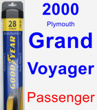Passenger Wiper Blade for 2000 Plymouth Grand Voyager - Assurance