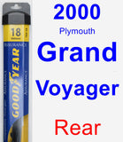 Rear Wiper Blade for 2000 Plymouth Grand Voyager - Assurance