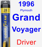 Driver Wiper Blade for 1996 Plymouth Grand Voyager - Assurance