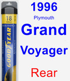 Rear Wiper Blade for 1996 Plymouth Grand Voyager - Assurance