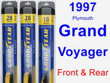 Front & Rear Wiper Blade Pack for 1997 Plymouth Grand Voyager - Assurance