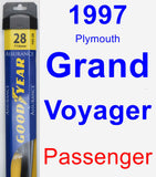 Passenger Wiper Blade for 1997 Plymouth Grand Voyager - Assurance