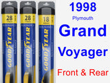 Front & Rear Wiper Blade Pack for 1998 Plymouth Grand Voyager - Assurance