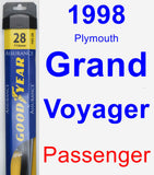 Passenger Wiper Blade for 1998 Plymouth Grand Voyager - Assurance