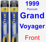 Front Wiper Blade Pack for 1999 Plymouth Grand Voyager - Assurance