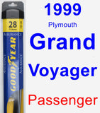 Passenger Wiper Blade for 1999 Plymouth Grand Voyager - Assurance