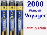 Front & Rear Wiper Blade Pack for 2000 Plymouth Voyager - Assurance